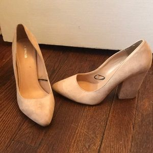 Express faux suede heels